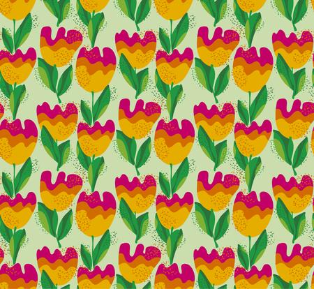 roy: simple stylish tulip flower seamless, pattern. vector illustration.