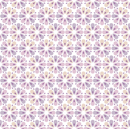 geometry flowers seamless pattern. floral vector illustration Stock Vector - 81576255