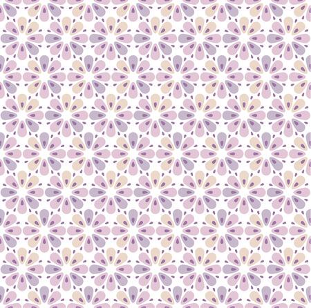 geometry flowers seamless pattern. floral vector illustration Illustration