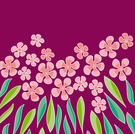 ピンク色の花は、要素をデザインします。花のベクトル図  イラスト・ベクター素材