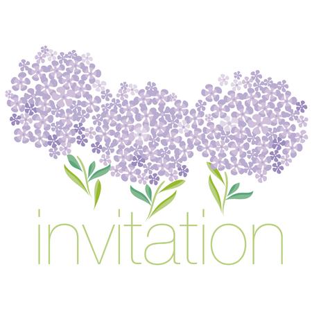 simple shape decorative hydrangea header template. vector illustration