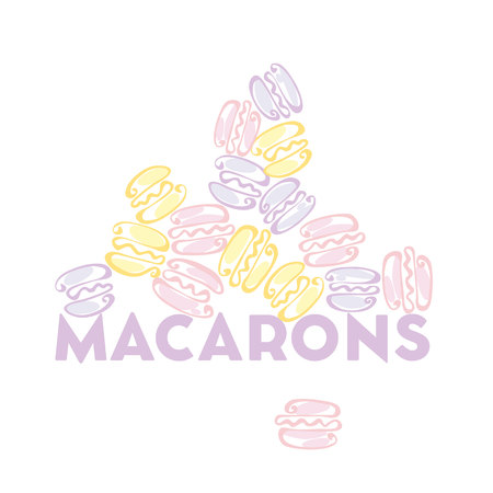 confection: pale color macaron sweet cake. vector illustration Illustration