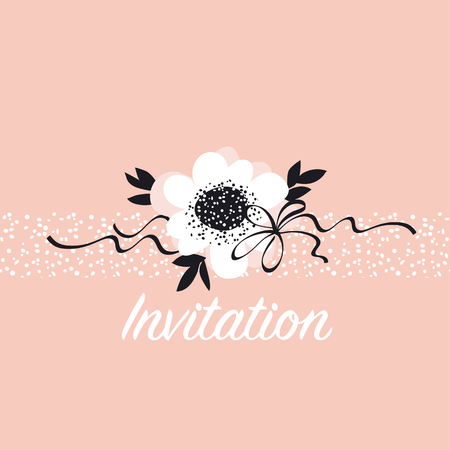 pale color abstract rose flowers card template. vector sketch illustration