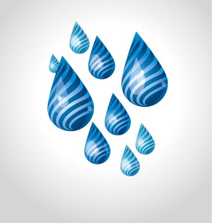 huge funny water rain drop. vector illustration 向量圖像