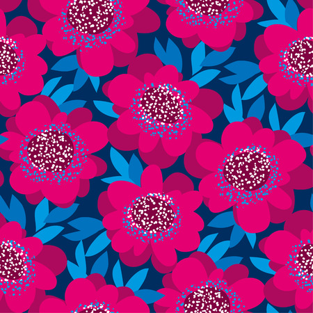 pink decorative camellia flowers seamless pattern. vector illustration