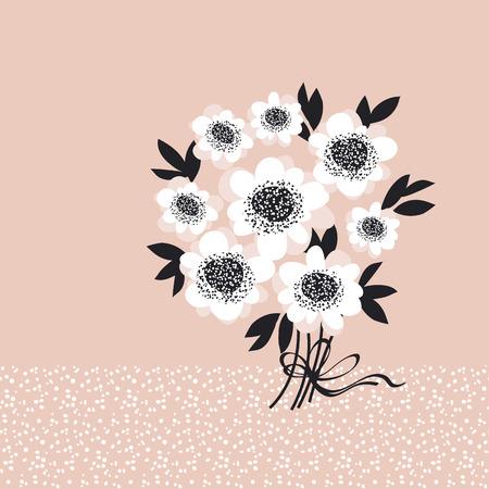 blasse Farbe abstrakte Rose Blumen Einladung Vorlage. Vektor Skizze Illustration