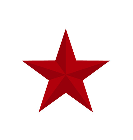 red classic star icon with verges. vector illustration Illustration