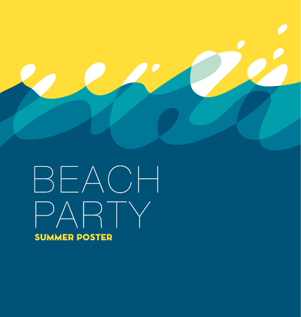 cerulean: abstract summer sunny sea wave background. template for banner, cards, poster. vector illustration.
