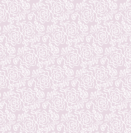 Laze style tender rose floral abstract vector illustration of seamless pattern Illustration