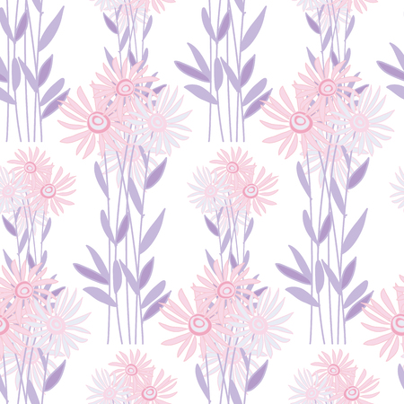 golden daisy: golden-daisy wrapping paper vector illustration. floral fall background on white background. chrysanthemum seamless pattern Illustration
