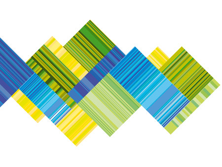 broadsheet: blue and green vector header with colorful stripe. line stripe style color design. pattern wallpaper. geometric background Illustration