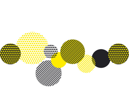 yellow and black abstract geometry pattern. modern geometric motif. vector illustration Illustration