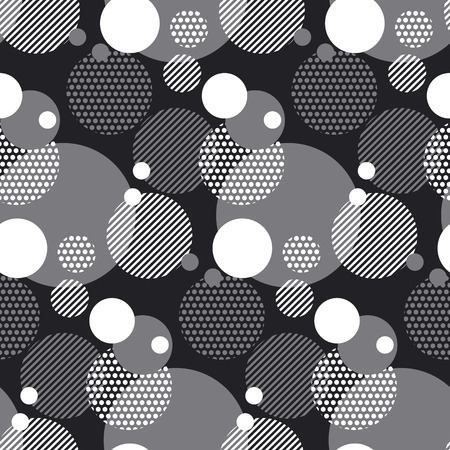 modern concept black and white motif. semleass geometry pattern. vector illustration.