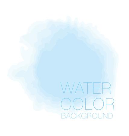 Blue sky spot. watercolour background, vector backdrop, digital illustration, bluered design element. Vetores