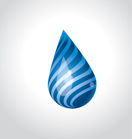 huge funny water rain drop concept. blue water funny vector illustration