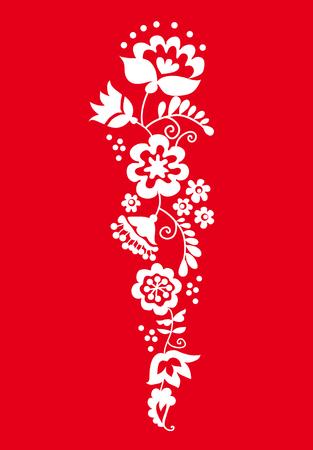 traditional european ukrainian ornament. rustic floral wedding composition. rural folk style flower element.