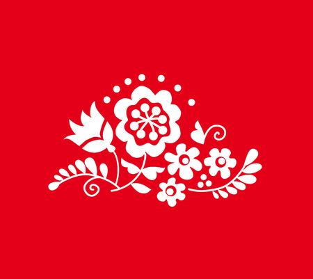 Ornement traditionnel ukrainien européen. Composition rustique du mariage floral. Élément de fleur de style folklorique rural. Banque d'images - 81629152