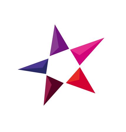 Concept Perspective Star Icon Geometry Luxury Symbol Vector