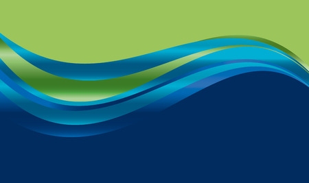 웹 및 인쇄에 대 한 추상 그라디언트 물결 배경. 표면 디자인에 대 한 벡터 일러스트 레이 션. 유창 물 녹색 및 파랑 색 요소. 일러스트