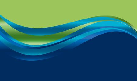 abstracte gradiënt golf achtergrond voor web en print. vectorillustratie voor oppervlakteontwerp. vloeiend water groen en blauw kleurenelement.