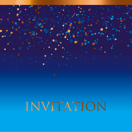 celebrate: new year gold and blue star background. night absract decorative starspattern for invitatnio, banner, hesder, surface print and web design
