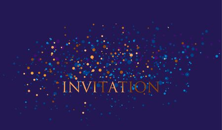 celebrate: Night absract decorative stars pattern for invitation, banner, header, surface print and web design