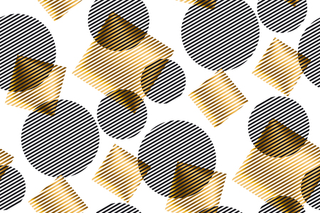 concept geometry vector illustration with line geometric shapes. abstract seamless pattern for surface design, fabric, wrapping paper Reklamní fotografie - 88802078