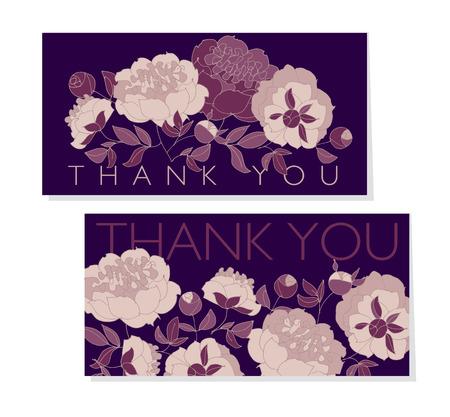 Rose color peony flower on black background in sketch hand drawn floral pattern illustration for card, wedding invitation, surface design Illustration