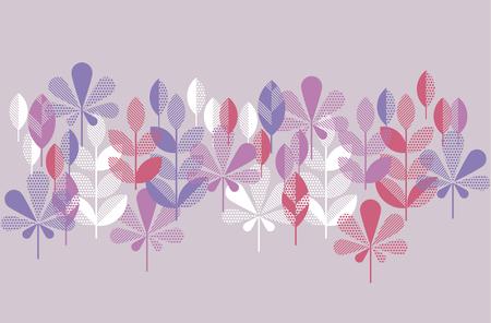 autumn leaves pattern vector illustration. concept abstract natural element for header, invitation, surface design Illustration
