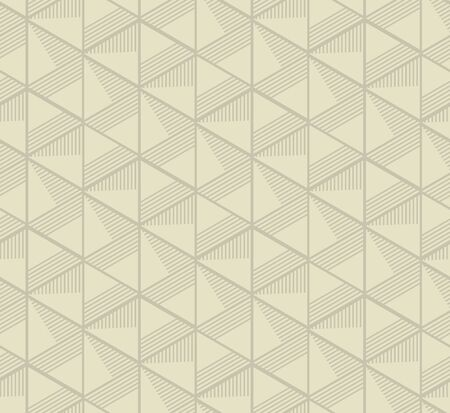 concept seamless pattern with pale mono-color geometry triangle. simple 3d illusion abstract geometry line motif for surface design Illustration