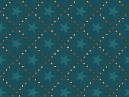 Nahtloses Muster des abstrakten Sternkonzeptluxus. Weihnachtsfestliche Textilvektorillustration. Wiederholbares Motiv für Packpapier, Stoff, Hintergrund.