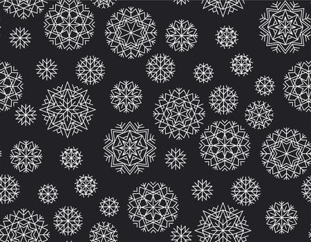 추상 겨울 벡터 배경입니다. 크리스마스와 새 해 우아한 럭셔리 스타일 원활한 패턴입니다. 배치 포장지, 직물, 배경 반복 반복 모티프.