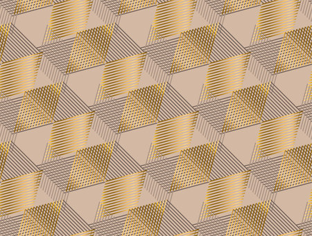 Elegant geometric style seamless pattern vector illustration. Concept geometric tile background for luxury man surface print and web design, background, fabric.  Vettoriali