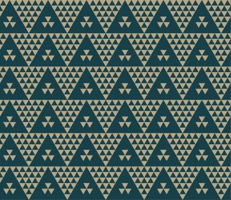Green color vintage retro Ukraine style motif. Monochrome seamless pattern vector illustration. Concept geometric tile background for card, invitation, header print and web design.