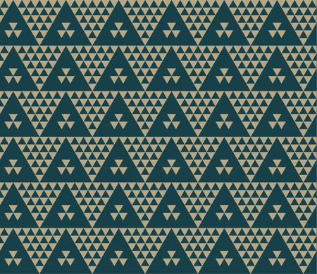 Green color vintage retro Ukraine style motif. Monochrome seamless pattern vector illustration. Concept geometric tile background for card, invitation, header print and web design.