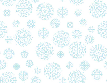 Abstract snowflakes vector background. Xmas and New Year elegant luxury style seamless pattern. Repeatable motif for holiday wrapping paper, fabric, backdrop.