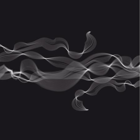 추상 증기와 연기 그림입니다.