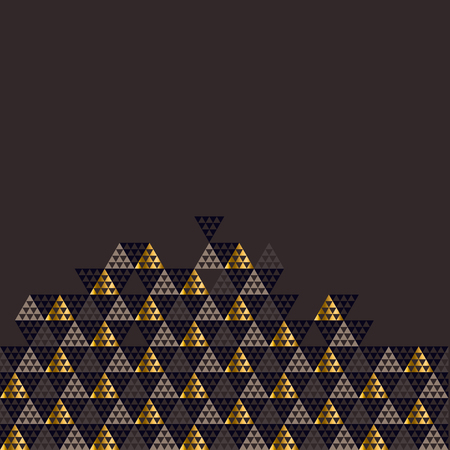 Geometry gold header illustration.