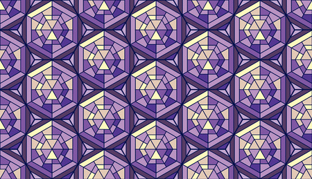 Abstract pattern in mosaic stained-glass style. Ilustração
