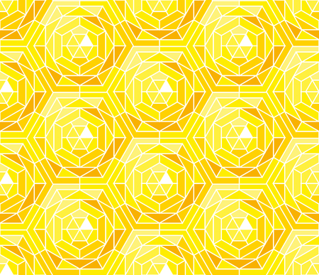 Sunny pattern in mosaic stained-glass style.