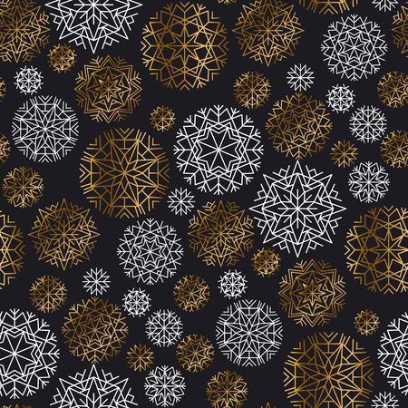 Christmas decorative snowflake illustration. Illustration