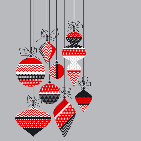Christmas bauble decoration in patchwork style.
