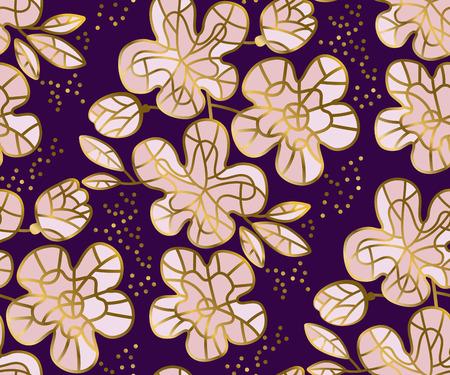 Abstrakte Sakura Blossom Muster Illustration Vektorgrafik
