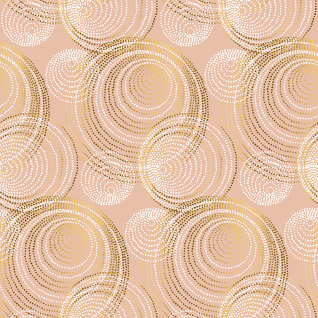 rose gold abstract geometry luxury style seamless pattern.  elegant chic vector illustration for surface design, fabric, wrapping paper. Illustration