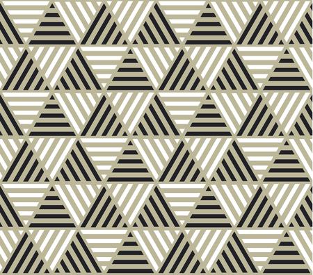 triangle géométrie toile de fond avec des rayures pour le web et le modèle de couleur géométrique noir et beige . motif de surface géométrique pour la surface de la surface.