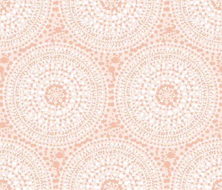 Tribal Indian style abstract circle geometry seamless pattern.  Elegant pale rose concept flower of sun vector illustration for surface design, fabric, wrapping paper.