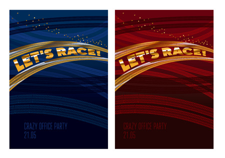 Simple race tarek vector illustration. Tires tracks path for auto poster, header, cover.