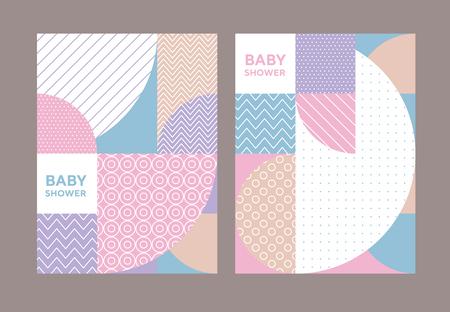 Concept pastel color geometric pattern. Stock vector illustration. Pale Spring light color palette motif for surface design, cover, wrapping paper, baby projects. Illusztráció