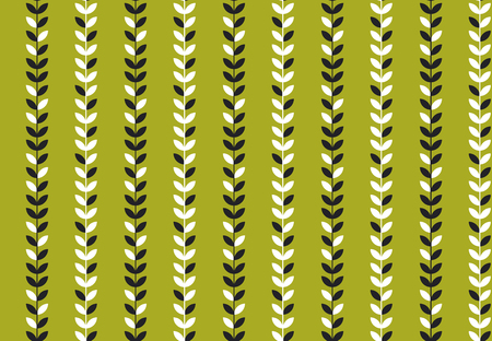 simple flat tropical pattern in green color. nature floral stock vector illustration.  concept seamless pattern. summer adventure background