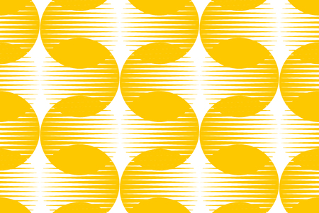 vintage 60s geometric seamless pattern. geometry retro style repeatable motif in yellow and white colors. stock vector surface design illustration. graphic element for fabric, background. Illustration